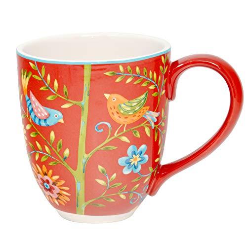 Jumbotasse Becher XXL folkloristische Deko 810 ml aus Keramik Trinkbecher Smoothie Becher Geschenk Büro Tasse für Kaffee Teetasse Cappuccino Kaffeebecher Jumbo-Tasse Riesentasse XXXL von DUO (Kurpie)