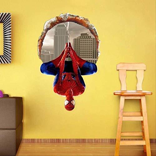 Wandaufkleber, Motiv: Spiderman, für Kinder, Dekoration, 40 x 60 cm