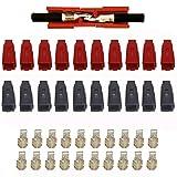 Conector de batería 45A 600V utilizados en: vehículos eléctricos, Fuente de alimentación regulada por CC, EPS, fuente de alimentación del inversor y el sistema de cargador (10Pcs Rojo 10Pcs Negro)