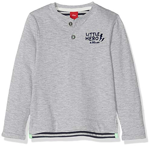s.Oliver Baby-Jungen 65.908.31.8687 Langarmshirt, Grau (Grey Melange 9400), (Herstellergröße: 74)