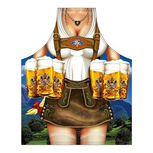 Schort Tiroler vrouw voor grill en keuken