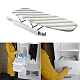 uyoyous Drawer Built-in Ironing Board - Closet Folding Pull-Out Ironing Board with Heat Resistant Cover for Space Saving House Held Laundry