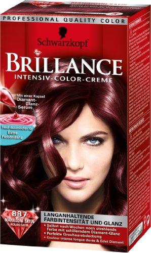Schwarzkopf Brillance Intensiv-Color-Creme Stufe 3, 887 Maha. Satin