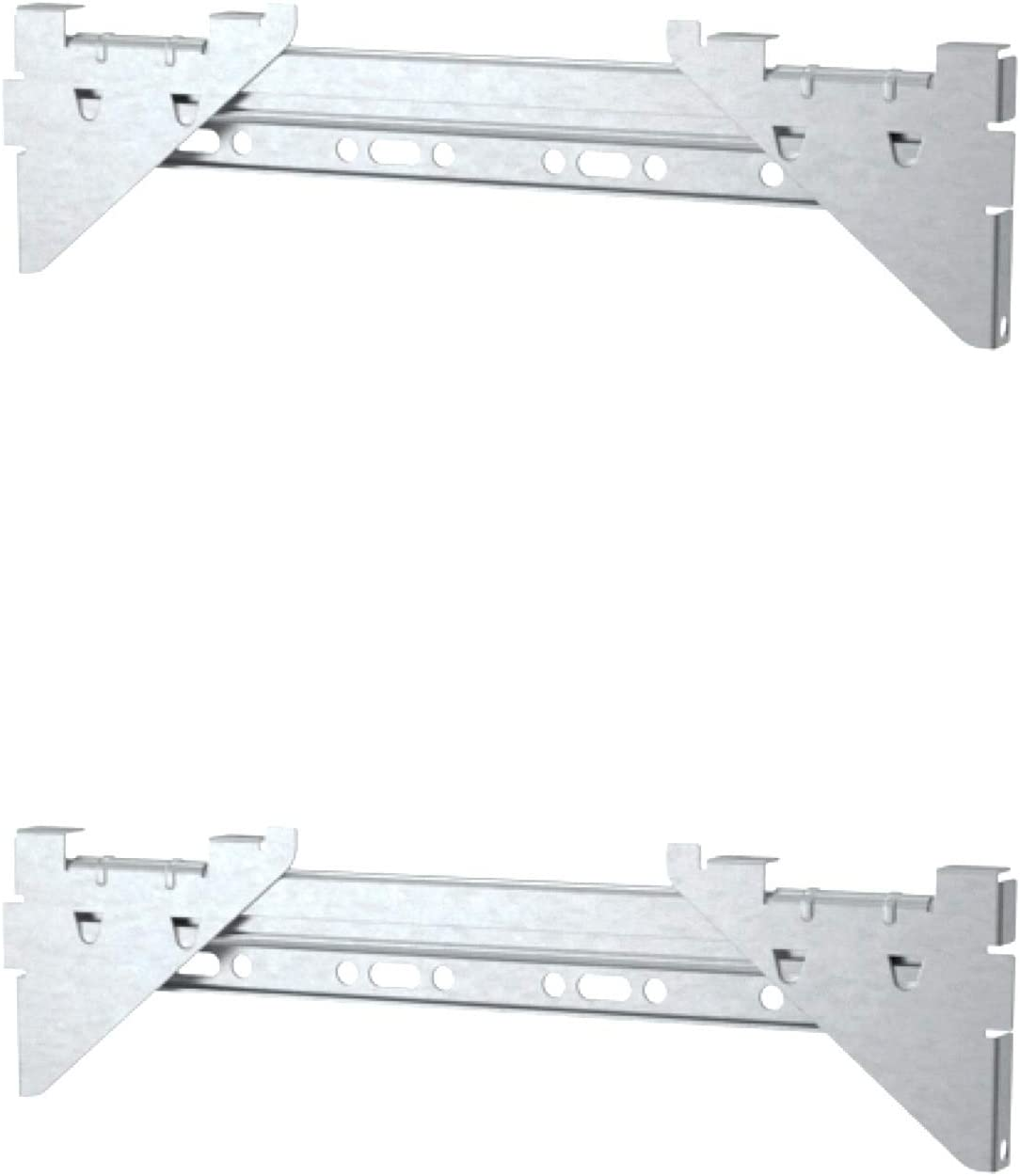 2 Pack IKEA EKET Suspension rail For Wall Mounting (Size 13 3/4 inches)