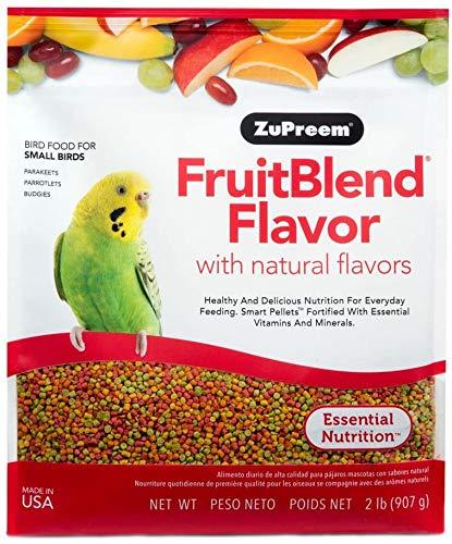 ZuPreem - Alimento para Aves Pequeñas FruitBlend | Alimento Periquitos y Loros - 900 g ⭐