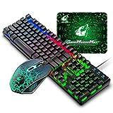 DE Layout Gaming Tastatur Maus Set, QWERTZ Layout verdrahtet 104 tasten...