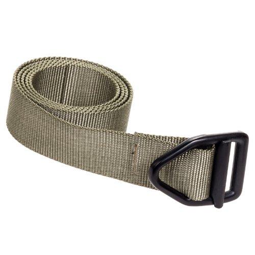 Bison Designs 38MM Last Chance Light Duty Nylon Web Belt w V-Ring Buckle L Olive