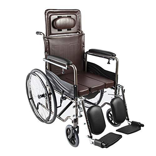 Stoelen met wieltjes, wc-bril, semovente, rugleuning, middenligstoel, armleuningen, verstelbare voetsteun.