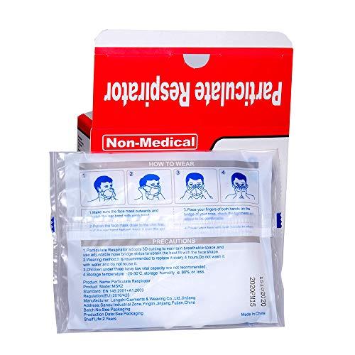 ISN mask2 - FFP2 / KN 95 Atemschutzmaske, staubdicht, einzeln verpackt - Atmungsaktive 5-Lagen-Maske CE-zertifiziert -10er Packung. - 4