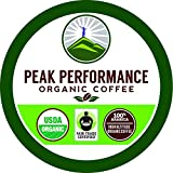 Organic Coffee Pods - Peak Performance High Altitude Organic Coffee. High Performance Coffee for High Performance Individuals. Fair Trade Organic Beans Medium Roast. Single Serve 24 Coffee Pods, Cups