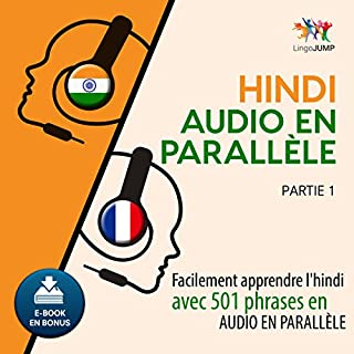 Couverture de Hindi audio en parallèle - Facilement apprendre l'hindi avec 501 phrases en audio en parallèle - Partie 1