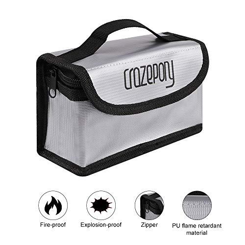 Crazepony feuerfeste explosionssichere Lipo-Safe-Tasche Lipo Battery Guard Sichere Tasche für Lipo Akku Lagerung und Aufladung
