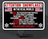 OwnTheAvenue Attention Snowflake Sticker Decal Political Trump for Window Car Truck Bumper 5'