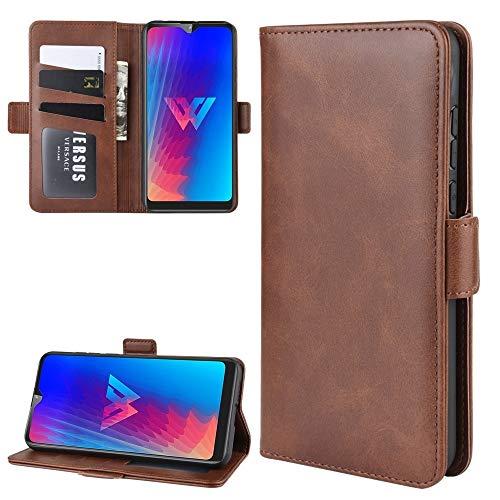 LISUONG MCDC Aydd Wallet Soporte de Cuero Caja de Cuero para Sony Xperia L3, con Billetera y Soporte y Ranuras para Tarjetas (Color : Brown)