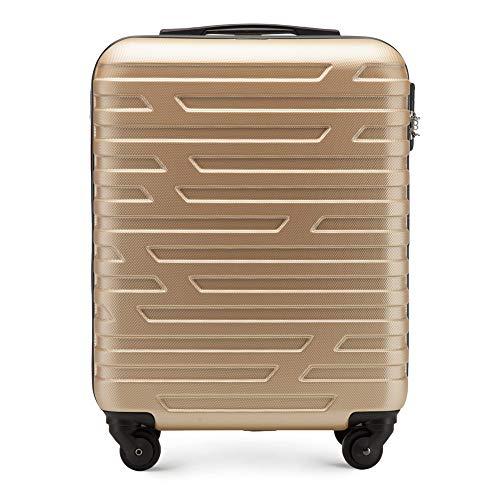WITTCHEN Koffer – Handgepäck | hartschalen, Material: ABS | hochwertiger und Stabiler | Gold | 38 L | 54x39x23 cm