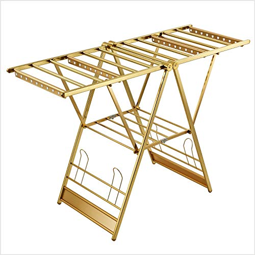 Ophangsysteem Reasonable Frame Design aluminiumlegering materiaal buizen anti-slip kunststof grote weerstand roestvrij staal aluminiumlegering (kleur: goud) goud