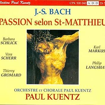 J.S. Bach : La Passion Selon St-Matthieu BWV 244