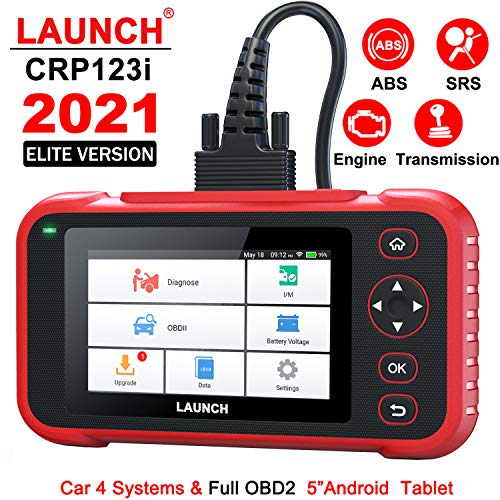 LAUNCH Full OBD2 Scanner - Creader123i 4 Systems Code Reader Engine Transmission SRS ABS All OBD 2 Automotive Scanner, I/M Readiness Smog Check CAN Car Diagnostic Tool, Battery Voltage Check