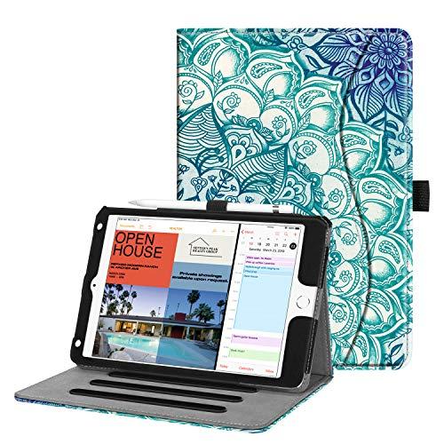 Fintie Case for iPad Mini 5 2019 / iPad Mini 4 - [Corner Protection] Multi-Angle Viewing Smart Folio Cover w/Pocket, Pencil Holder, Auto Wake/Sleep for iPad Mini 5th Generation 7.9', Emerald Illusions