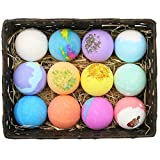XiaoOu Organic Bath Bomb 12PCS Natural Bath Bombs Bubble Bath Products Bubble Bath Ball Shower Bomb Handmade Spa Stress Relief