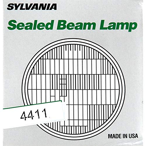 SYLVANIA - H4411 Sealed Beam Headlight (4.5 inch Round) PAR36 - Halogen Replacement Light Bulb (Contains 1 Bulb)