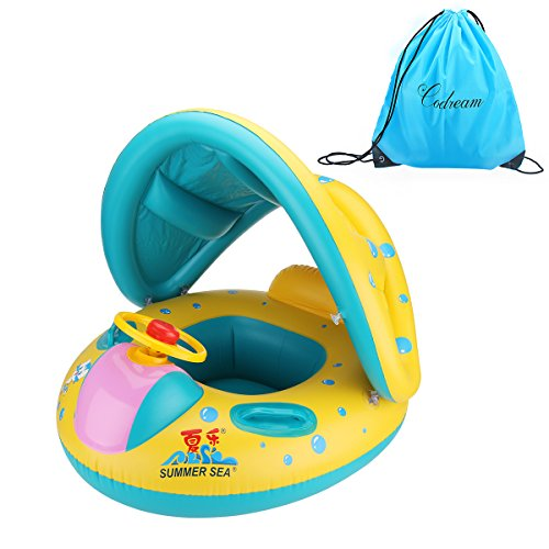 Codream Infant Pool Float with Sun Canopy