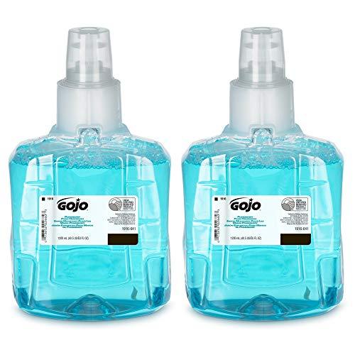 GOJO Pomeberry Foam Handwash, Pomegranate Scent, 1200 mL Hand Soap Refill for GOJO LTX-12 Dispenser (Pack of 2) - 1916-02