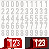 50PCS Reflective Mailbox Number Sticker, Large 3 Inch Decal Adhesive Reflective House Address Numbers 0-9 Waterproof and Fade-Resistant for Mailbox, Signs, Window, Door, Cars, Home, Outside (White)