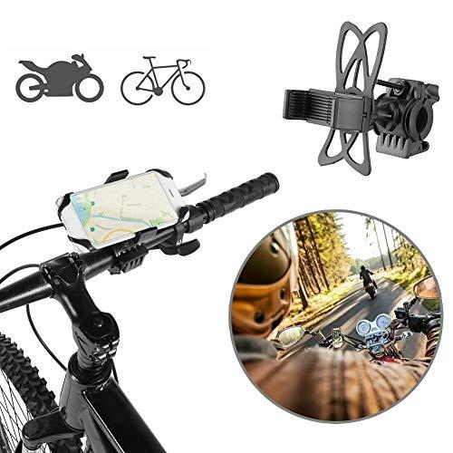 Atyhao Soporte para teléfono de Bicicleta, Soporte Negro Universal para teléfono móvil de Motocicleta de Bicicleta 360 Grados de rotación de Soporte