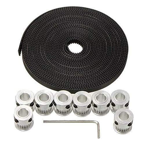 ZGQA-GQA 3D Printer Parts, Aluminium Timing Pulley 20T GT2 2GT 5M Belt for RepRap Prusa Mendel 3D Printer