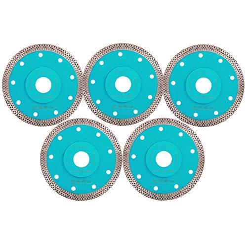 Cena, hoja fina de azulejos de 4.5 pulgadas, 5 unidades, hoja de sierra de porcelana de diamante, disco de corte de cerámica para amoladora angular