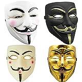 4PCS Máscara de Hacker V para Vendetta Máscara Disfraz de Halloween Accesorios de Fiesta de Cosplay