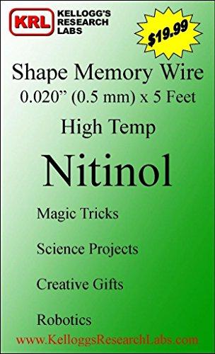 Nitinol NiTi SMA Shape Memory Alloy SHEET 1mm thick 80 ºC 176 ºF