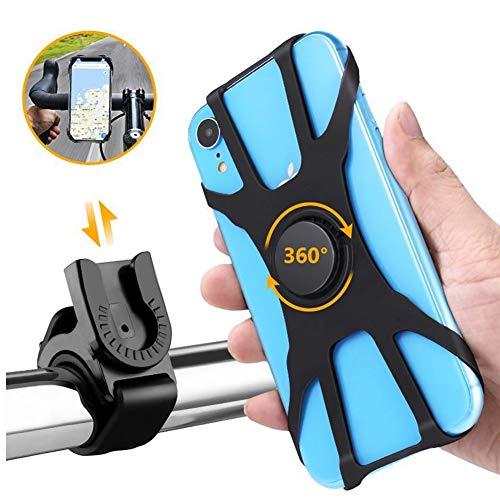 VANUODA Handyhalterung Fahrrad, Fahrradtelefonhalter Ideal für Mountainbike, Motorrad, Rennrad, Fahrradhalterung Fahrrad Silikon für Smartphones mit der Bildschirmgröße von 4-6.5 Zoll