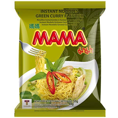 MAMA Instantnudeln mit dem Geschmack von grünem Curry, 30 x 55g