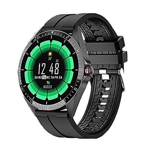 Azorex Smartwatch Reloj Inteligente para Mujer Hombre Reloj Deportivo Redondo Impermeable IP67 con Pulsómetro Cronómetros Monitor de Sueño Negro