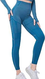 XFKLJ Sports Bra Yoga Pants Women's Fitness Seamless Suits Long Sleeve Crop Tops Legging Pants Workout Tracksuit Yoga Suit...