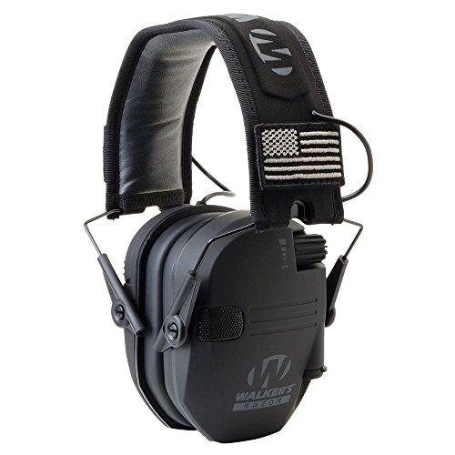 Walkers GWP-RSEMPAT Razor Slim Electronic Muff - Black Patriot