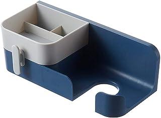 Support d'angle de salle de bain Support de rangement pour salle de bain Tenture murale monté sur support de stockage de t...