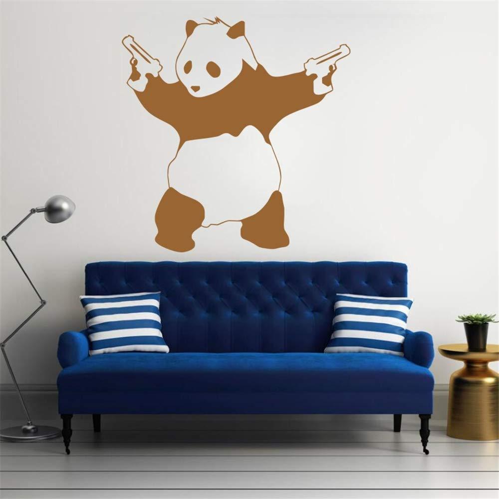 Ajcwhml El más Nuevo Mal Malo Panda gángster Pistola Papel Tapiz Arte de Vinilo Dormitorio decoración 55x55cm: Amazon.es: Hogar