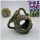 Pet Online Accesorios acuario hervidora resina artesanía Jarrón decorado del acuario, 13 * 12 * 15 cm