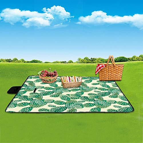 Feccile Beach Blanket Best Sand Proof Picnic Mat for Travel Camping Hiking and Music Festivals Durable Tarp with Corner Pockets
