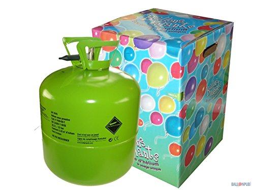 Ptit Clown 30310 Bouteille dHélium Jetable - 0,42 m3 - 50 Ballons - Multicolore