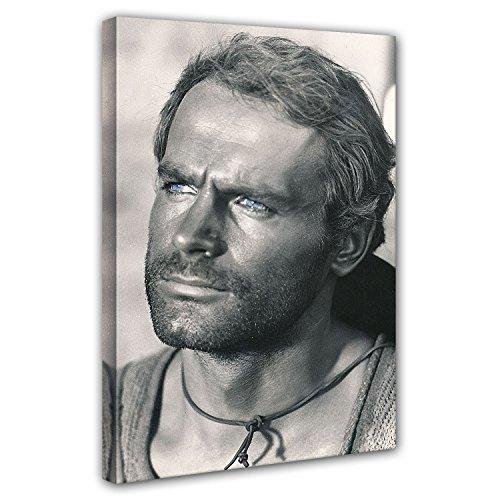 Terence Hill Bud Spencer - Der müde Joe - Portrait - Die rechte und die Linke Hand des Teufels - Leinwand (60 x 80 cm)