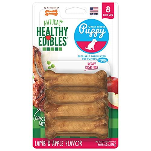 Nylabone Healthy Edibles Puppy Natural Long Lasting Dog Chew Treats Lamb & Apple Flavor Petite - Up to 15 lbs.
