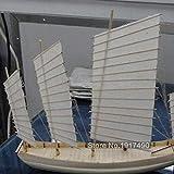Kits de maquetas de barcos de madera Kit de maquetas de barcos Juegos educativos para niños Montaje de maquetas de barcos de madera Hobby 3D Escala de corte láser 1/80 Juncos de navegación chinos