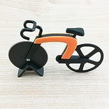 Henreal Bicicletta Pizza Cutter Ruota in Acciaio Inox plastica Bike Roller Pizza Chopper Slicer Cucina Gadget Orange
