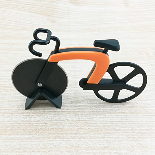 Henreal Fahrrad Pizza Cutter Rad Edelstahl Kunststoff Bike Roller Pizza Chopper Slicer Küche Gadget