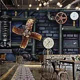 ZNNBH Selbstklebende 3D-Tapete (B) 400X (H) 280Cm Retro Industrial Wind Steam Gear Fototapete 3D Tv-Hintergrund Schlafzimmer Wohnzimmer Moderne Malerei Tapeten Wandbilder 3D Wandbild...