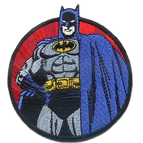 Parches - Batman capote 1 - azul - 7,8 x 7,7 cm - termoadhesivos bordados aplique para ropa
